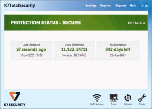 K7 Total Security Crack 16.0.0489 & Activation Code Free Download 2021